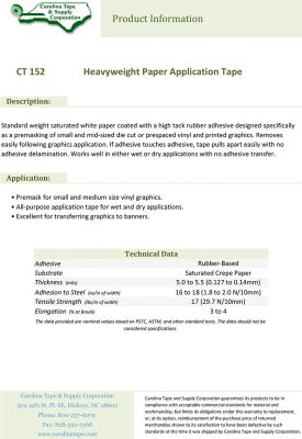 152 Heavyweight Paper Application Tape