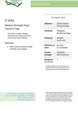 Strapping And Filament Series Medium Strength Paper Tape Ipg Ra 2 554