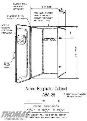 Safety Equipment Cabinets Model ABA-35 drawing