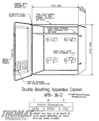 Breathing apparatus APB-36 drawing