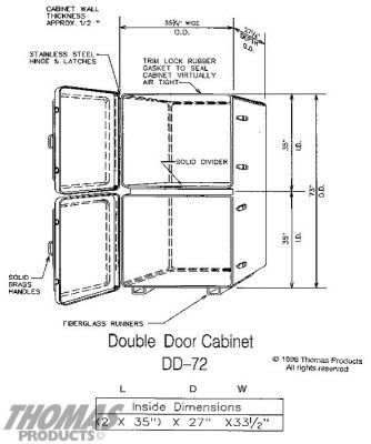 Large Storage Equipment Cabinets Model DD-72 drawing