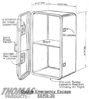 Safety Equipment Cabinets Model EERS-30 drawing