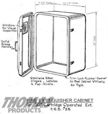 Fire Extinguisher Cabinets Model FEB-25 drawing