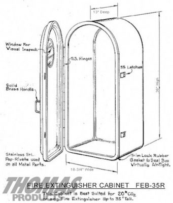 Fire Extinguisher Cabinets Model FEB-35R drawing