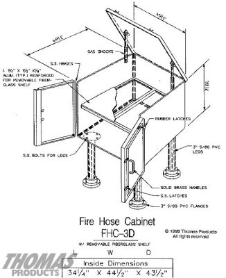 Fire Hose Cabinets Model FHC-3D drawing