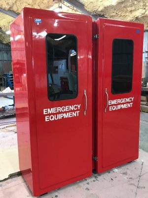 Large Storage Equipment Cabinets Model FWG-84 with windows