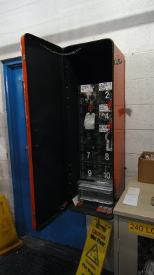 Lockout Tag-out Cabinets Model LOC-3 in use