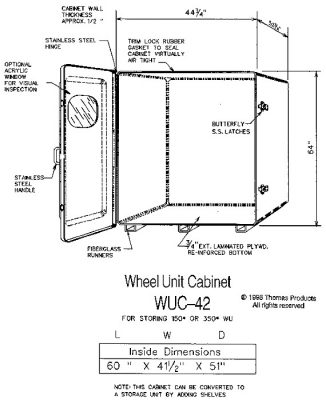 Fire Extinguisher Cabinets Model WUC-42 drawing